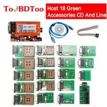 Hohe Qualität UPA V1.3 USB Programmierer Volle Adapter Mit NEC Funktion Mit Host 18 Grün Zubehör CD Und Linie