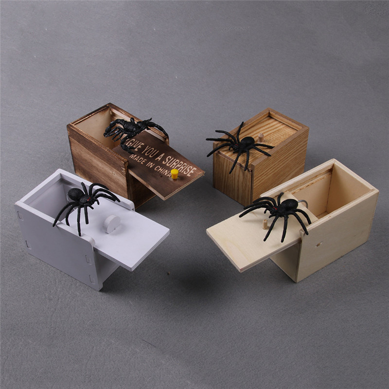 1pcs Spider Scare Box Case Magic Tricks Close Up Magia Funny Scare Box Magie Mentalism Illusion Gimmick Props Joke Toys For Kids