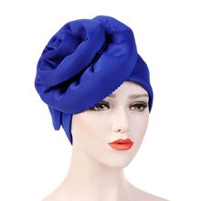 Helisopus Muslim Women Solid Big Elastic Turban Hats Elegant Party Head Cover Wrap Cancer Chemo Beanies Cap Hair Accessories
