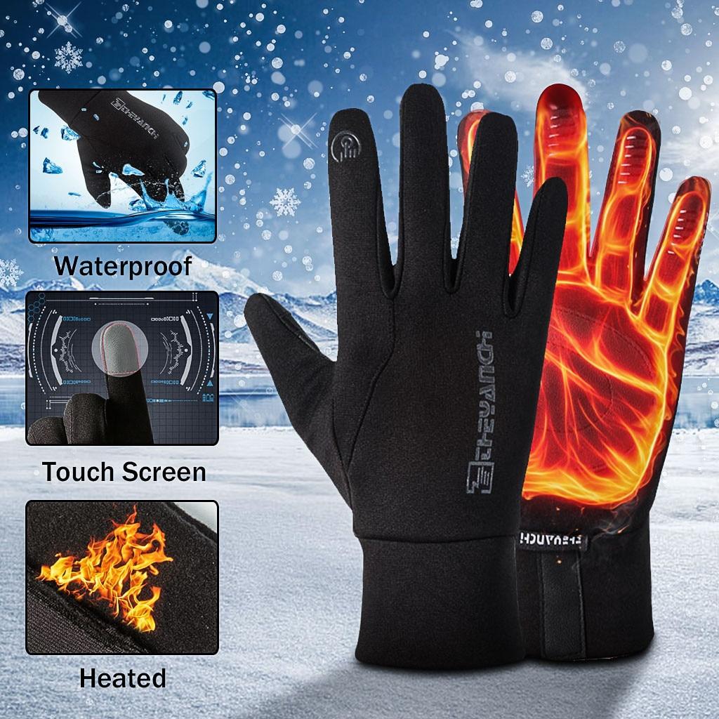 2020 высококачественные велосипедные перчатки унисекс, теплые спортивные водонепроницаемые ветрозащитные перчатки для экрана с Индукционн...