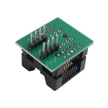 Durable SOP8 To DIP8 Wide-Body Seat Wide 200mil Pitch Programmer Adapter Socket Board Electronic Acc