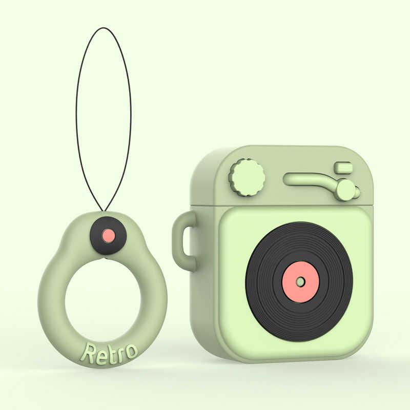 3D 漫画イヤホンため airpods bluetooth ヘッドセットボックス airpods ため 1 2 cramophone カバー空気 podd アクセサリーカップルケース