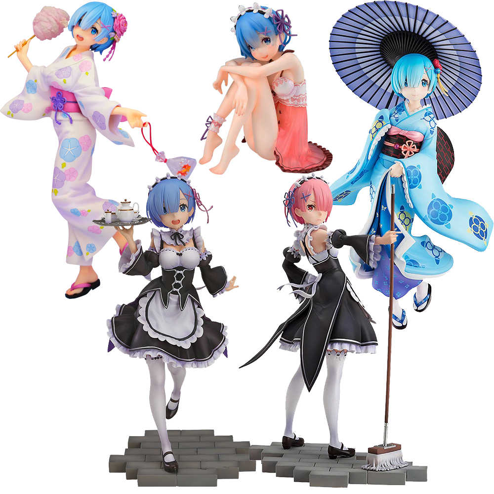 22 Cm Re: kehidupan Dunia Yang Berbeda dari Zero Rem Ram Emilia Re Zero Action Figure Mainan Anime Figures, Mainan untuk Anak-anak Anak hadiah