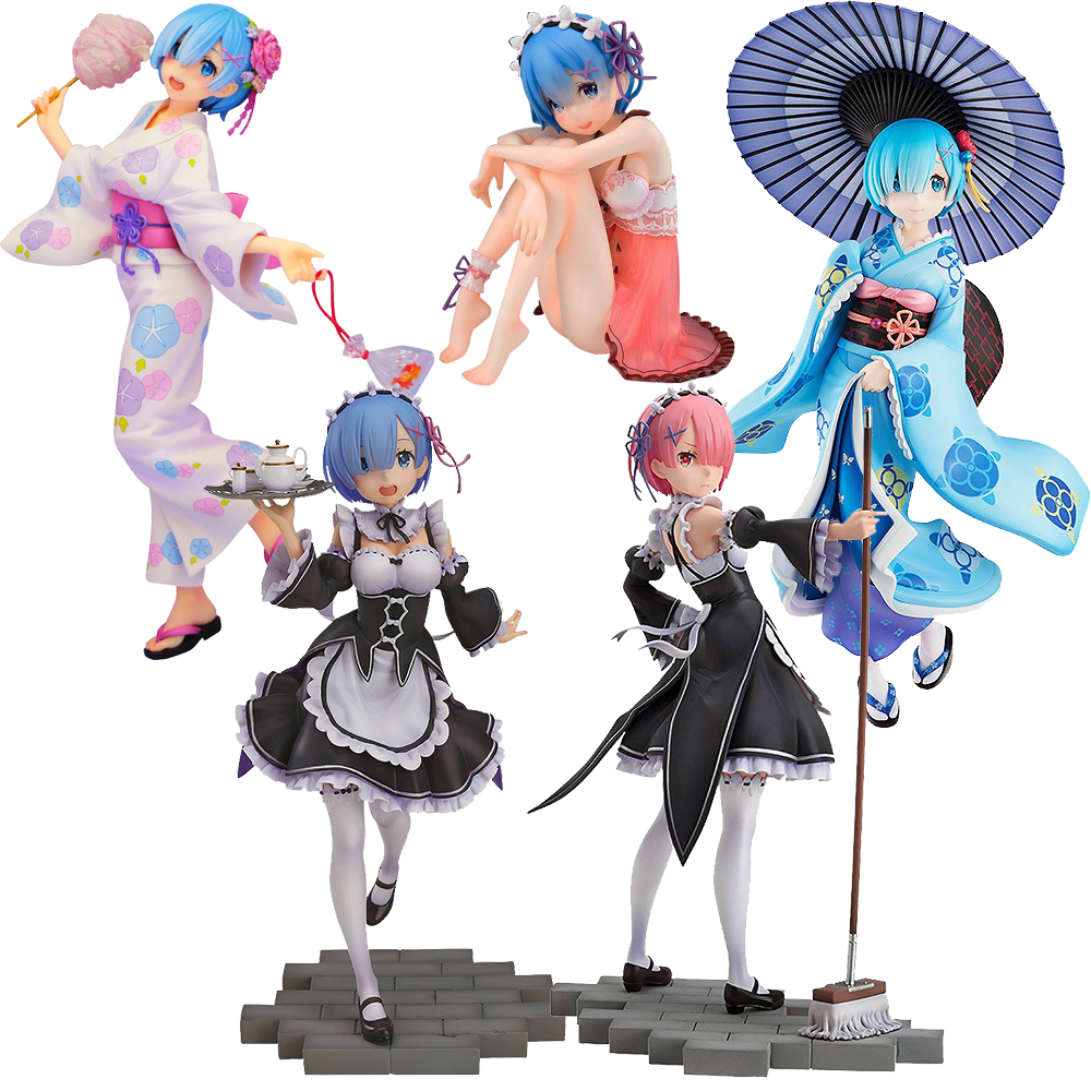 22cm Re: Life A Different World From Zero Rem Ram Emilia Re Zero Action Figures Toys Anime Figure Toys For Kids Children Gifts