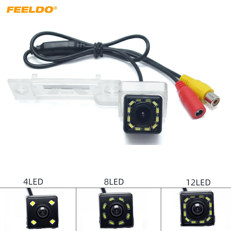 FEELDO 1Set Car Special Dedicated Rearview Parking Camera With LED For Volkswagen Touran/Caddy/Golf Plus/Passat B6(B7) #MX5923