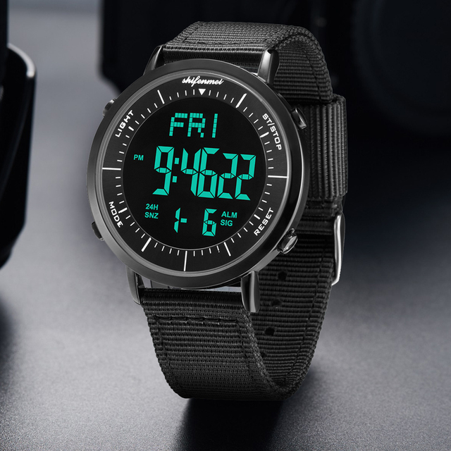 Shifenmei ultra-thin men's electronic watch Men Sport Watch Outdoor Digital Watch Electronic Wrist WatchesRelogio Masculino 2