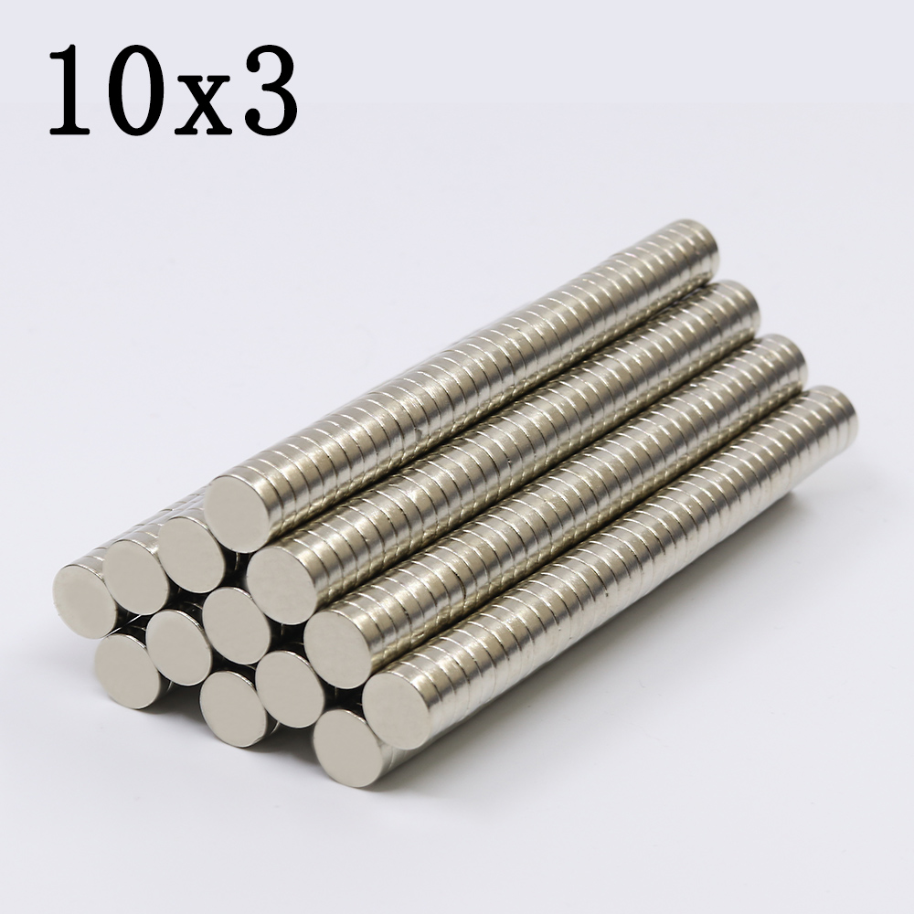 30/60/100Pcs 10x3 Neodymium Magnet 10mm x 3mm Super Powerful Strong Permanent Magnetic imanes N35 Round NdFeB 10X3