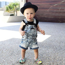 Children Toddler Kid Baby Girl Sleeveless Suspenders Denim Pants Clothes 2019 NEW Drop Shipping(China)