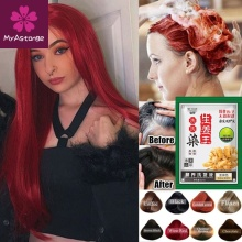 1 Pcs Fashion Mild Formula 5 Minutues Instant Hair Dye Ginger Extracts White Hair into Black Hair Shampoo Easy to Use Hair Care