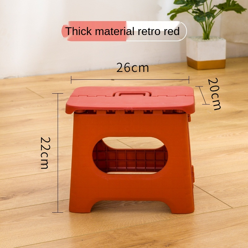 Camping Chair Portable Plastic Folding Stool Outdoor Fishing Stool Small Bench Children's Bench Adult Low Stool Garden Furniture