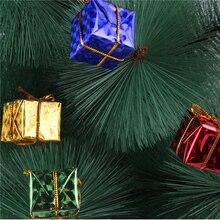 1PCS Fashion Folded Multi Color Mini Gift Box Christmas Tree Decorations Ornaments New-Year Xmas Hanging