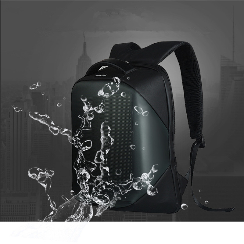 Wifi Smart LED Screen Backpack For Walking Outdoor Advertising
