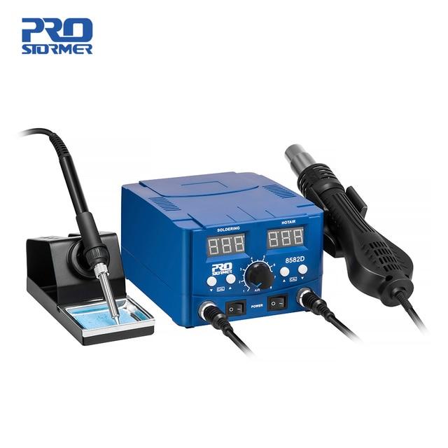 800W Soldering Station 2 in 1 Electric Hot Air Gun Led Display Electric Soldering Iron Work Station for Welding Repair Tools Kit 1