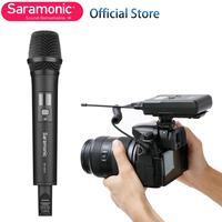Bezprzewodowa kamera mikrofon krawatowy System nagrywanie wideo  Saramonic UHF 16 kanał dookólna mikrofon do aparatu Nikon Canon DSLR w Mikrofony od Elektronika użytkowa na