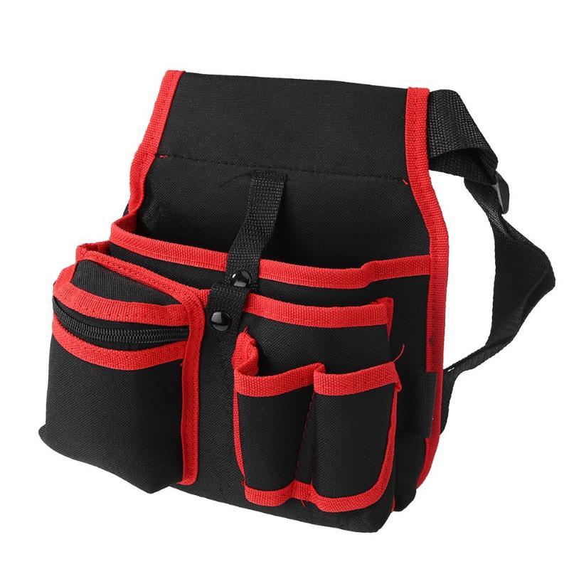 Wear-resistant Repair Tool Bag 600D Polyester Adjustable Belt Waist Pack Storage Organizer For Hardware Electrician