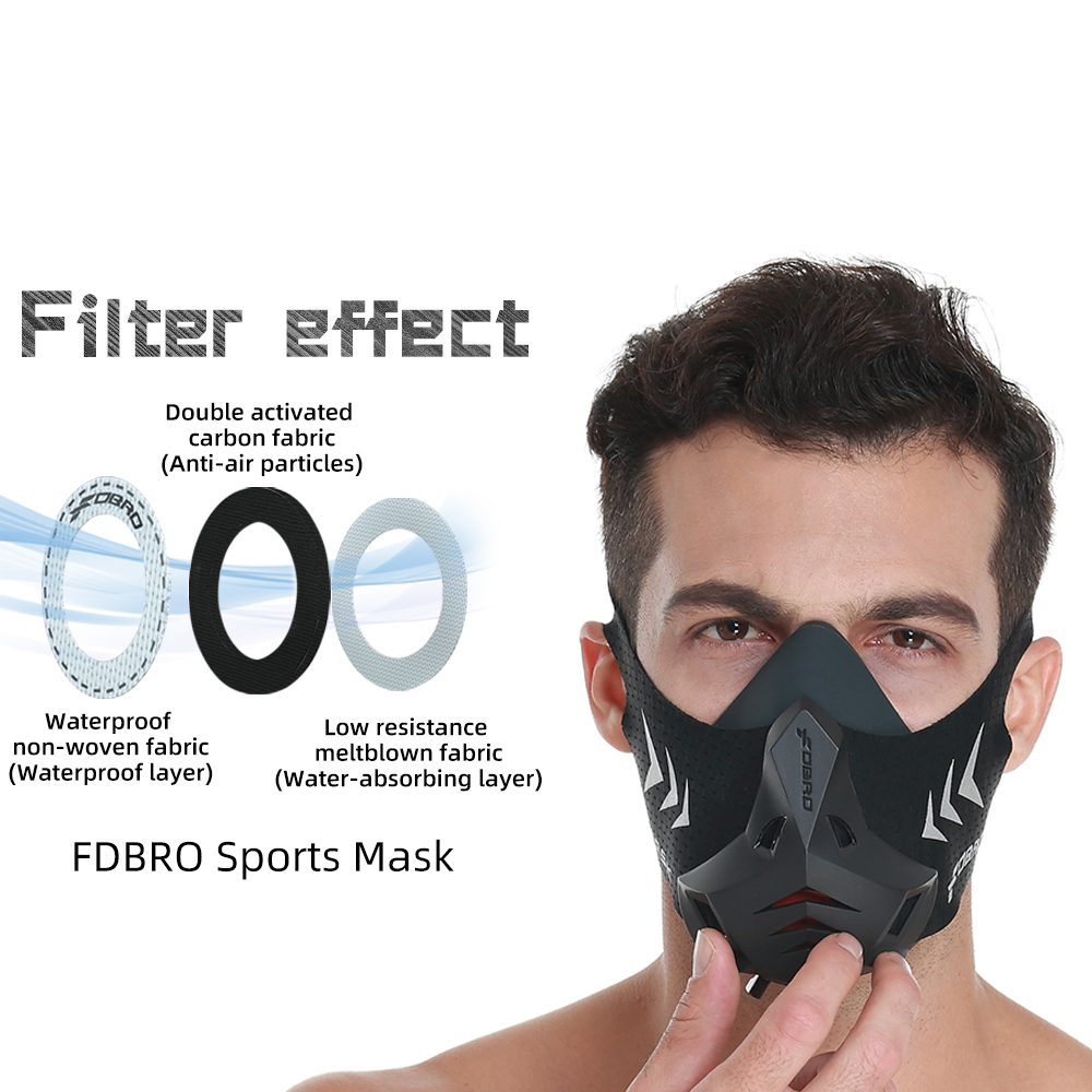 FDBRO PRO New Sport Running Mask Training Sports Mask 3.0 for Running Fitness Workout Resistance Elevation Cardio Endurance Etc.|Cycling Face Mask| |  - title=
