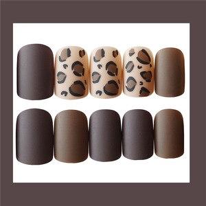 Image 5 - Pegatina falsa para uñas diseño 3D leopardo, estilo Sexy, arte largo, gran oferta, 24 piezas, 2020