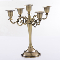 3 5 Arms Gold Candle Holder Wedding Metal Vintage Silver Candlestick Stand Candelabra Big Holder Center Table Decoration DZT612