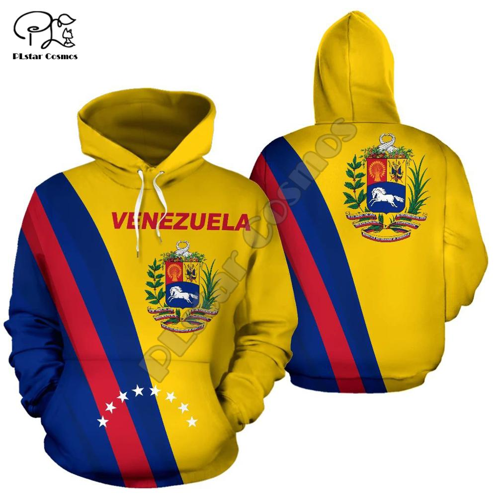 Men Women Venezuela Full Print 3D Hoodies Funny Country Flag Sweatshirt Fashion Hooded Long Sleeve Zipper Unisex Pullover