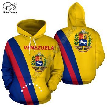 Men Women Venezuela Full print 3D Hoodies Funny country flag Sweatshirt Fashion Hooded Long Sleeve zipper unisex Pullover funny 3d bitcoin print hoodies sweatshirt unisex hooded pullover novelty print autumn tracksuits men casual long sleeve top