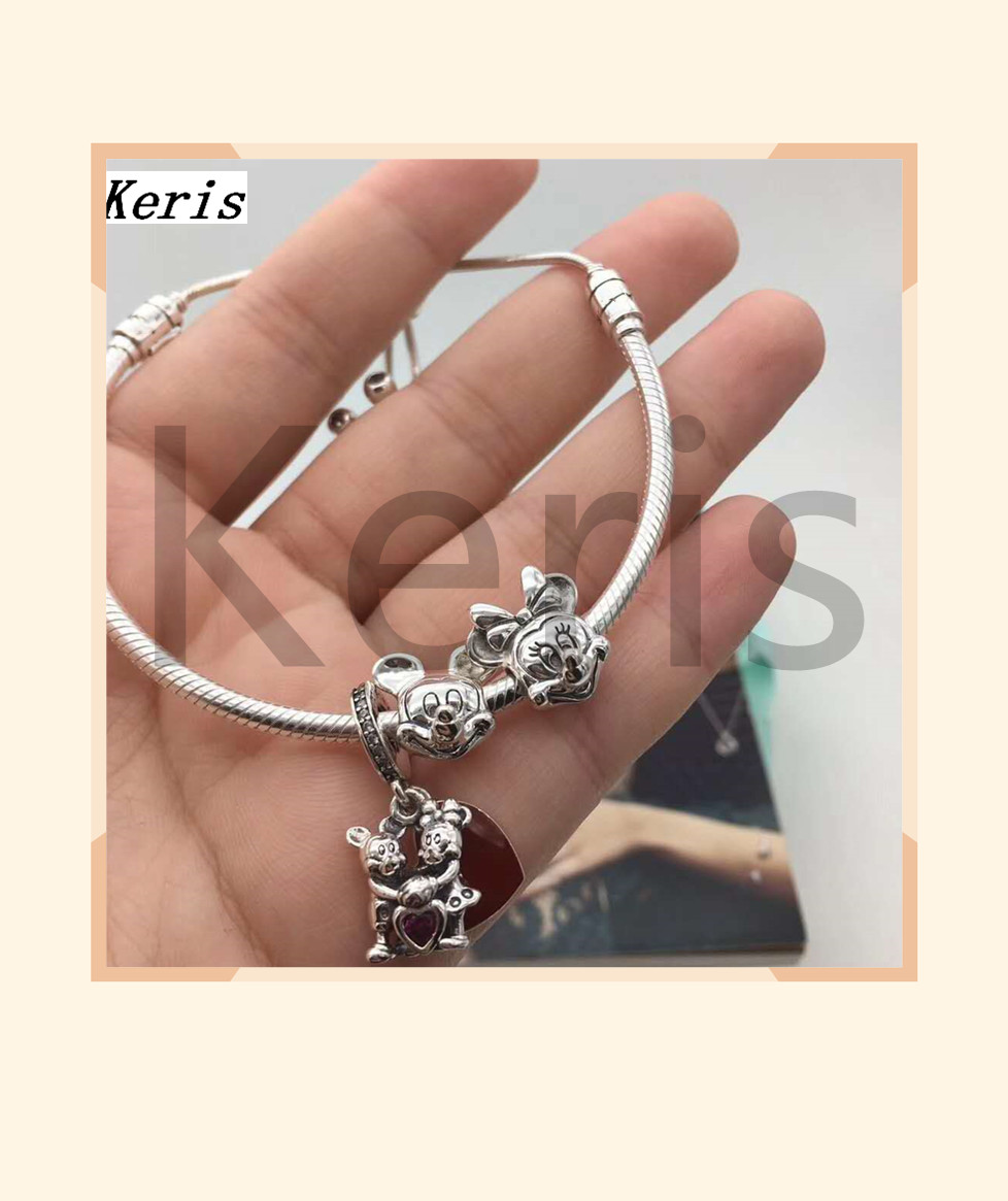 High Quality 1:1 100% Silver Rat String Pendant DIY Shrink Bracelet Free With Free Delivery