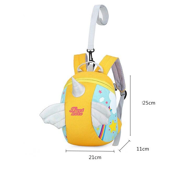 Nylon Fabric Panelled Preschool Backpack Baby Girls Mini Unicorn School Bags for Toddler Kids Cute Cartoon Casual Back Pack Blue (3)