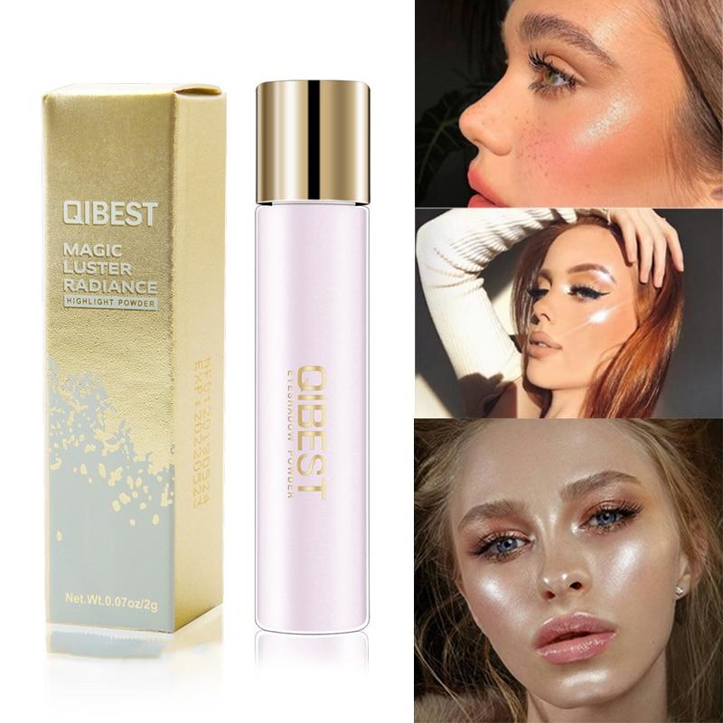 6 farbe Highlighter Gesichts Bronzer Make-Up Glow Gesicht Contour Shimmer Lose Lidschatten Pulver Illuminator Highlight Kosmetik