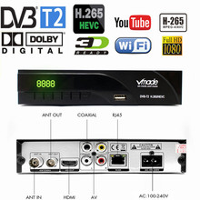 Vmade 2019 Newest DVB-T / DVB-T2 Built RJ45 H.265/ HEVC HD Digital Terrestrial Receiver Support Youtube Dolby AC3 DVB TV Box