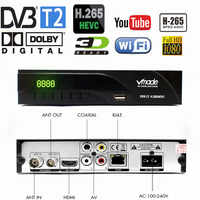Vmade 2019 Newest DVB-T / DVB-T2 Built RJ45 H.265/ HEVC HD Digital Terrestrial Receiver Support Youtube Dolby AC3 DVB TV Box