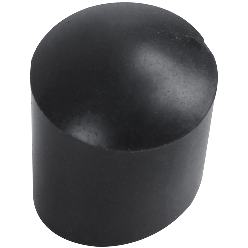 Fashion-Rubber Caps 40-piece Black Rubber Tube Ends 10mm Round