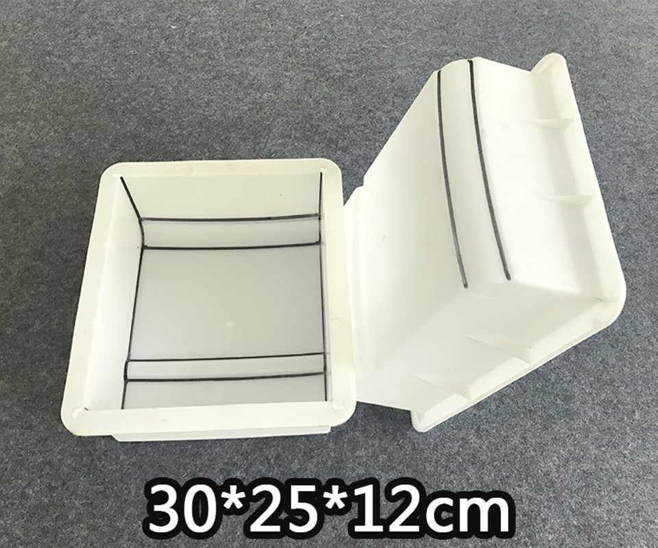 Cement Antique Brick Mold Square Garden pass Making Brick Mould 3D Carving Anti-Slip Concrete Plastic Paving Molds 30x25x12cm