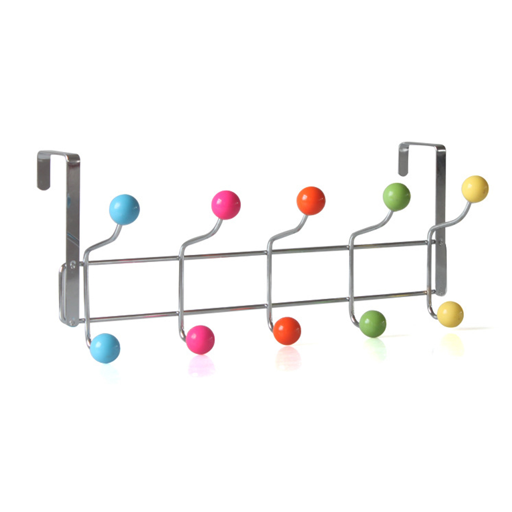 Hot Selling Colorful Beads Door Clothes Coat Hanger Rack Chrome Hangers With HOOKs