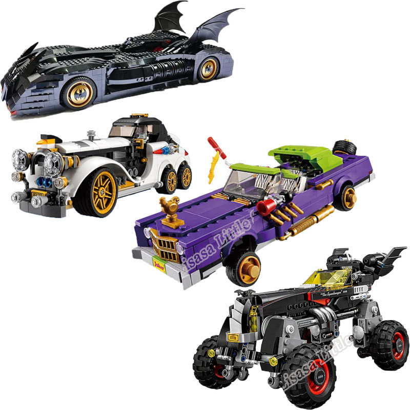 New Batman Tumbler Movies Figures Batpod Batmobile Set Building Blocks Legoinglys  Toys Technic Bricks