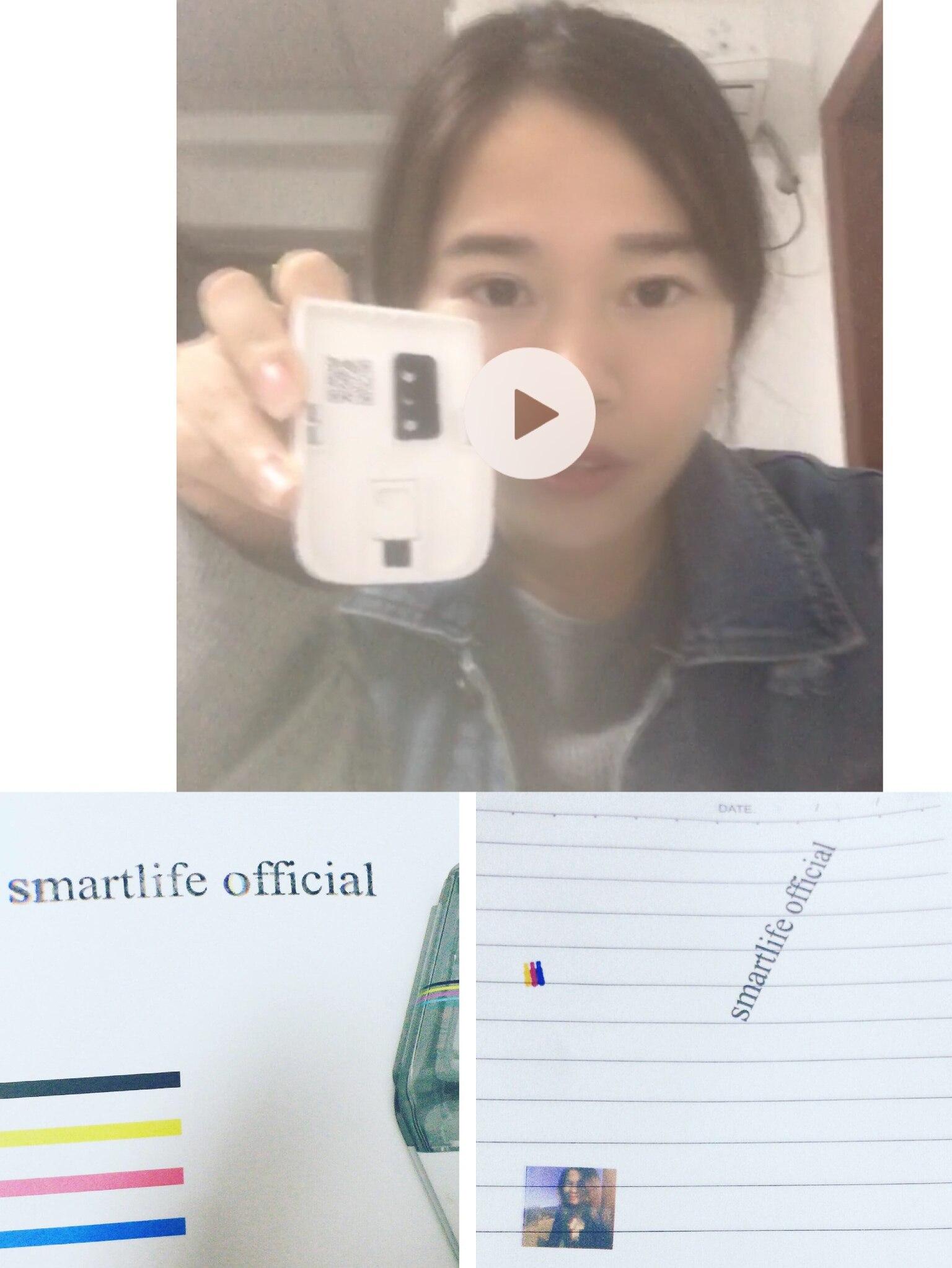 Smartlife exclusivo impressora cube (mbrush)-menor do mundo móvel impressora a cores logotipo impressão legal gadget para designers