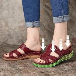 Frauen Hausschuhe Keile Plattform Sommer Weibliche Schuhe Feste Beiläufige Sandalen Plus Größe Damen Rutschen 2021 Außen Strand Hausschuhe