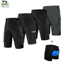 цена на WOSAWE Men Mtb Cycling Shorts 3D Gel Padded Light Waterproof Bicycle Bike Short Clothing Loose Maillot Ciclismo Downhill Shorts