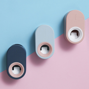 Automatyczny dozownik pasty do zębów naścienny dozownik pasty do zębów automatyczny wyciskacz do pasty do zębów do łazienki tanie i dobre opinie CN (pochodzenie) Z tworzywa sztucznego