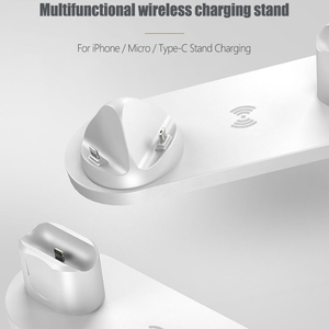 Image 5 - 6 in1 10W Wireless Charger Stand Dock for iPhone 11 Pro Xs Max 8 X Fast Wireless Charging for Apple Watch 5 4 3 2 Airpods Pro 2