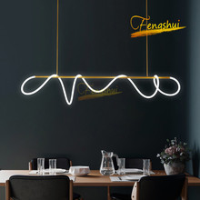 Modern Creativity LED Notes Pendant Lights Lighting Nordic Line Pendant Lamp LOFT Living Dining Room Ring Hanging Lamp Fixtures creative modern round led pendant lights adjustable height hanging lamp dining room restaurant living room pendant lamp fixtures