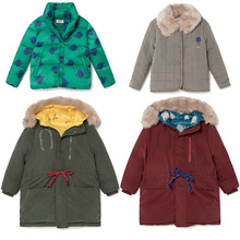 toddler boy jacket  toddler girl winter clothes  baby jacket  kids jacket BOBO DOWN COAT OUTWEARS christmas clothing fur coat