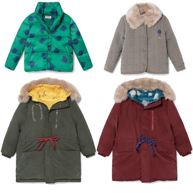 toddler boy jacket  toddler girl winter clothes  baby jacket  kids jacket BOBO DOWN COAT OUTWEARS christmas clothing fur coat
