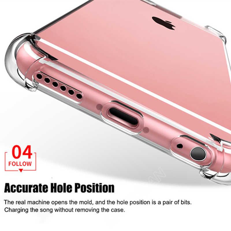 Étui pour iPhone en Silicone TPU XR XS 11 Pro MAX X 6 7 8 6S Plus Coque de téléphone transparente transparente pour iPhone X 8 7 6 5 SE
