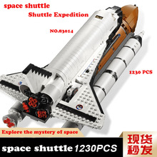 16014 Space Shuttle Expedition Model Building Blocks Toys Compatible LepinBlocks space shuttle 10231 for Boys kids