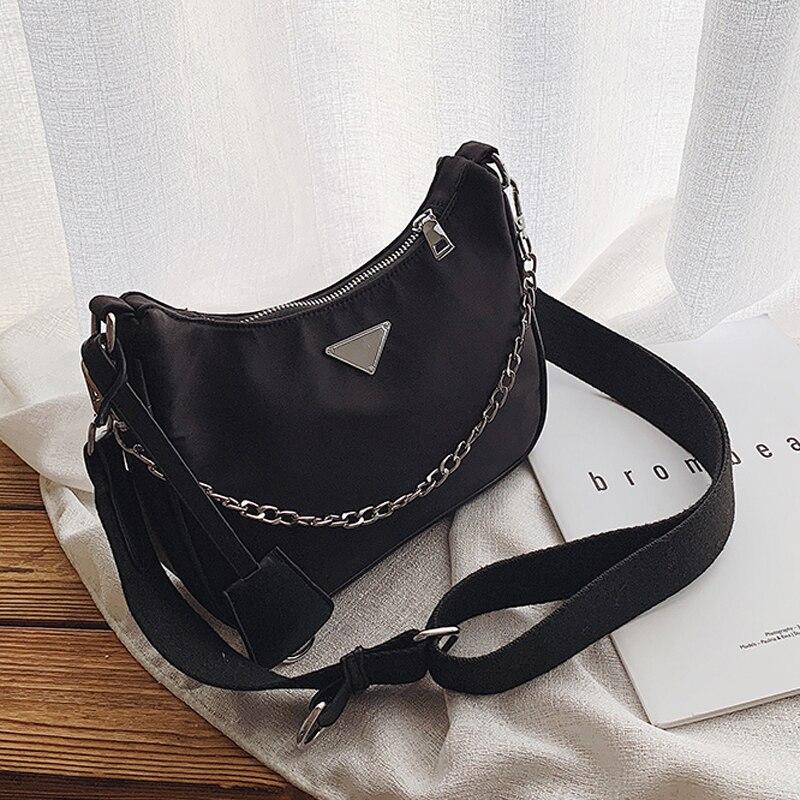 High Quality Runway Designer Shoulder Bag One Side Package Wide Shoulder Strap Crossbody Bags