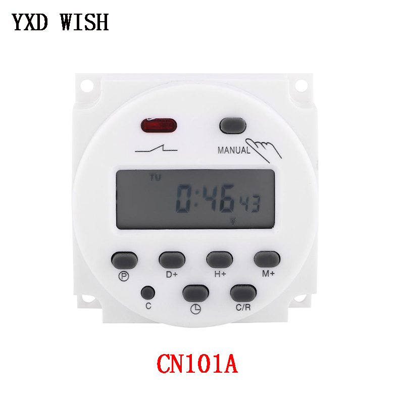 CN101A LCD Switch Time Relay Module 12V 24V 110V 220V Voltage Timer Relay For Street lamp <font><b>billboard</b></font> Power Supply Time Relays image