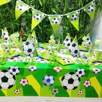 84pcs Unicorn Winnie Mermaid Cute Pirates Football Soccer Kid Birthday Party Supplies Tableware Decoration Favors