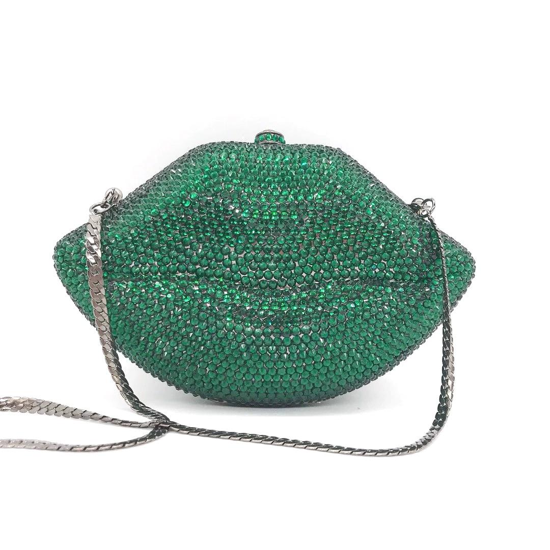 Bag For Women Luxury Lip Handmade Diamond Evening Bag Wedding Bride Clutch Zero Wallet Cocktail Handbags-BeeInFly