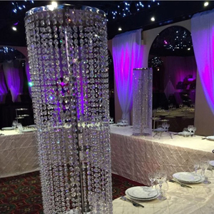 Image 5 - 6pcs/lot  Wedding Ferris wheel crystal ball curtain acrylic beads T road lead main table flower welcoming area decorative