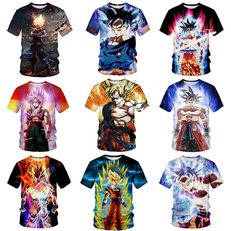 Fashion Brand T-shirt Mannen Dragon Ball T-shirt Stranger Dingen Gym Shirt Cool Anime Casual Mannen T-shirt Camiseta Masculina 6xl