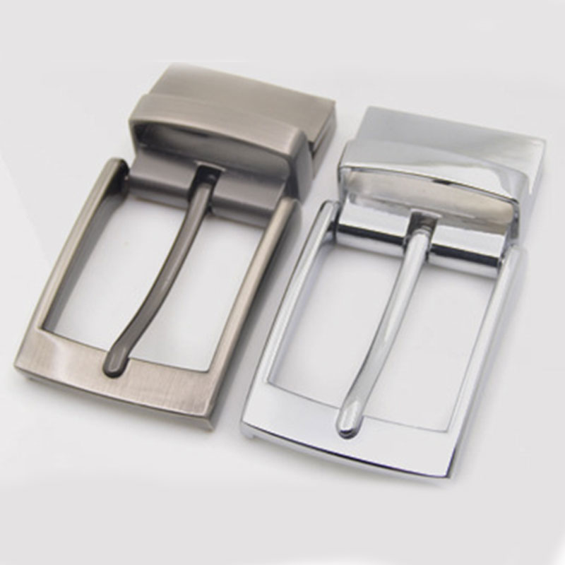 Hot Sale Metal Brushed Men Belt Buckle Matte Brown Clip Buckle Rotatable Bottom Single Pin Half Buckle Leather Craft Belt Strap